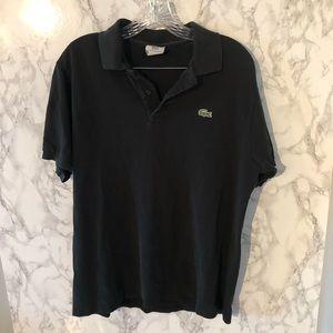 Men's Lacoste black polo